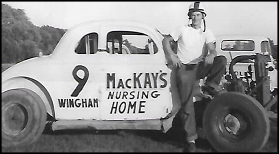 Dave Stephenson with his first race car at Bridgeport Speedway. Courtesy of Bill Stephenson