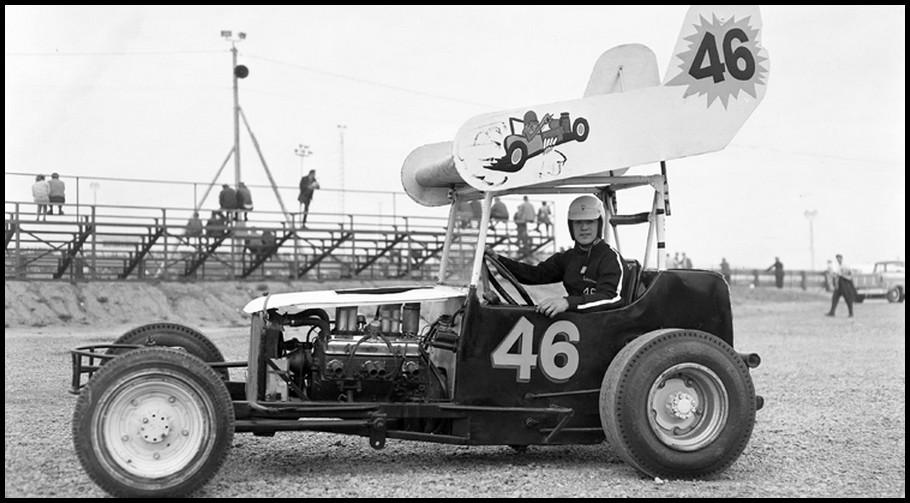 Warren Coniam in a Hazen McIntosh owned car