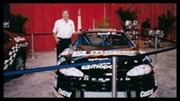Burt McColl with Ron Beauchamp Jr's Team Mopar Car.