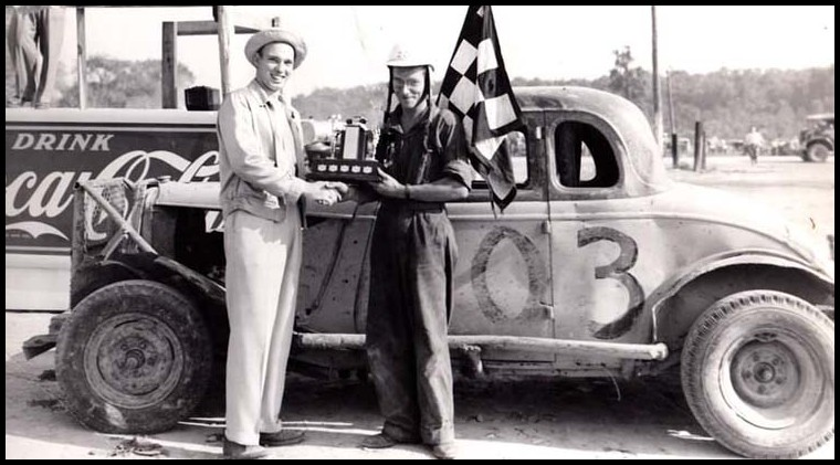 Bill Daniels at Ailsa Craig Speedway. Courtesy of Bill Daniels.