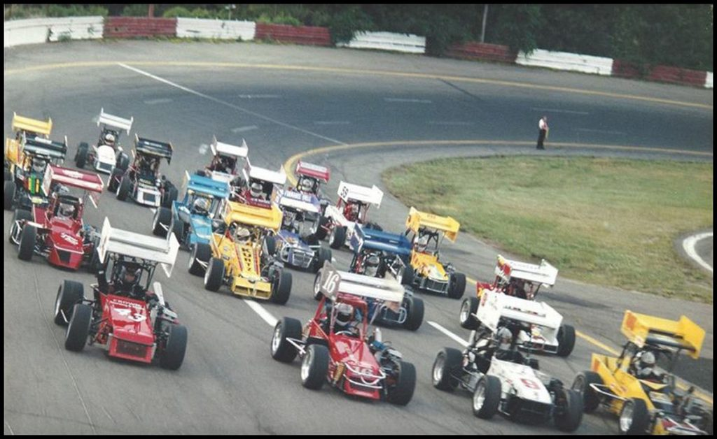 Can Am Midgets Salute to the fans Parade Lap