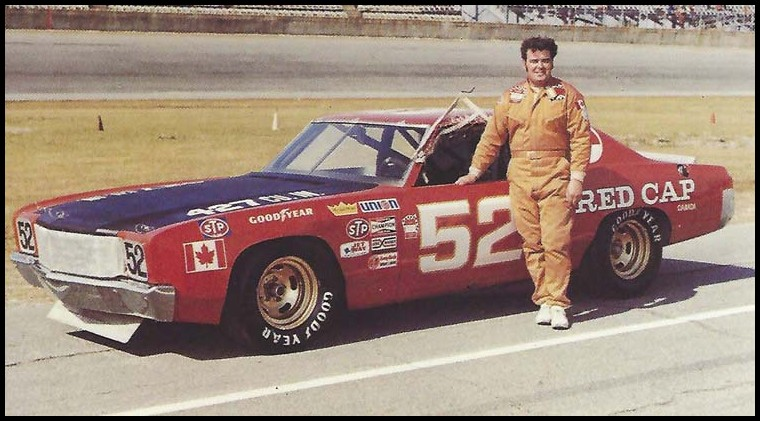 Earl Ross at Daytona with his Grand National Car in 1974. Courtesy of Rik Lelliott