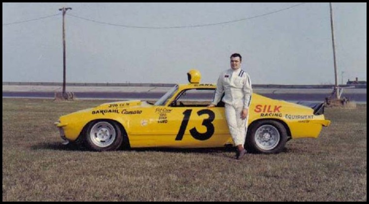 Earl Ross in the Kenny Silk owned #13 at Cayuga Speedway 1972. Courtesy of Gary Anderson