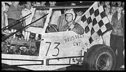 Jack McCutcheon won the 75 lap Pinecrest Speedway International in 1961. Courtesy of Michelle McCutcheon Blake