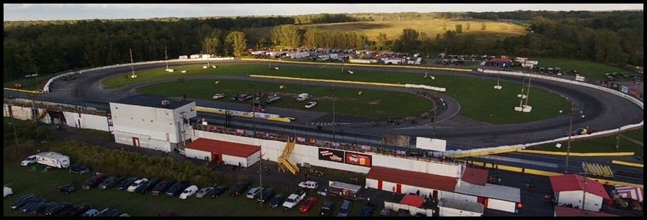 Lancaster Speedway Track Photo with Borders