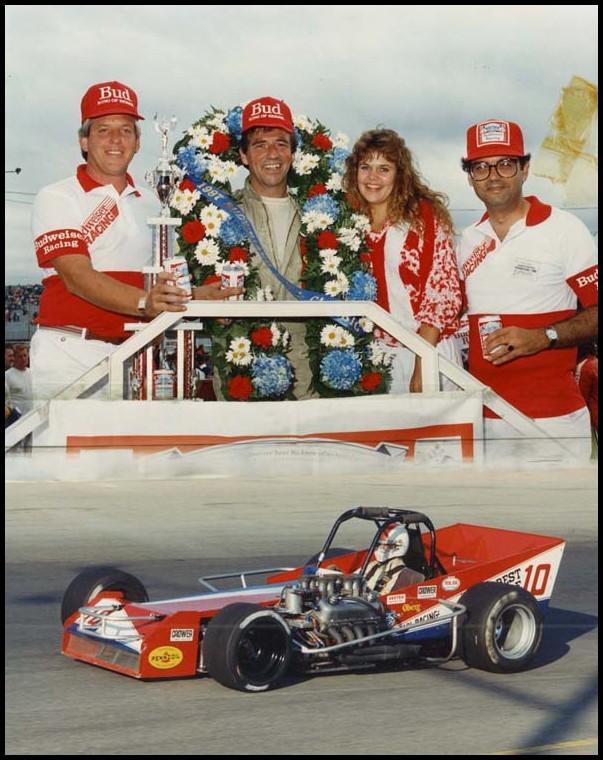 Warren Coniam in the Joe Magari Car #10 at the 1987 Classic. Courtesy of Warren Coniam