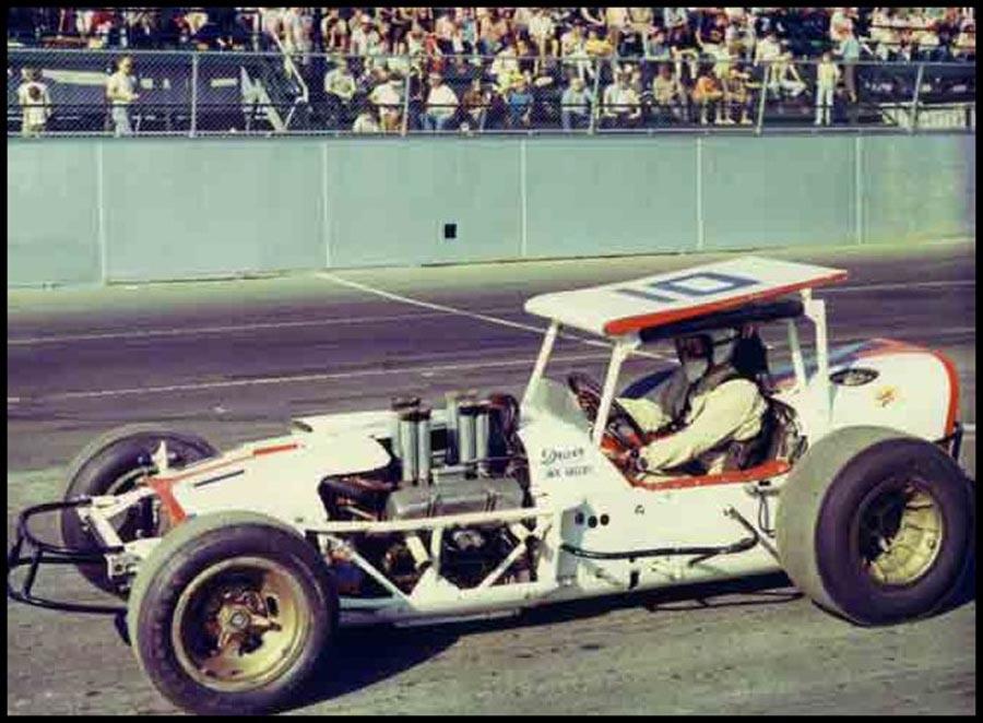 Jack Greedy at Oswego Speedway 1969. Courtesy of John Greedy