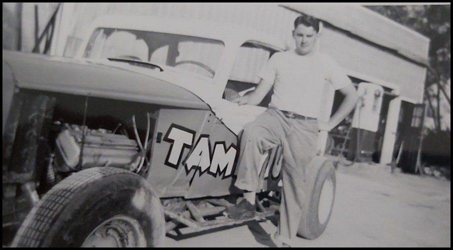John McIntyre and the Tammy 10 September 1955. Courtesy of Beach McIntyre