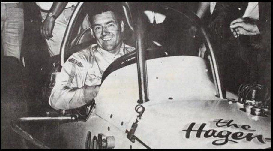 Norm Mackereth in the Hagen Howard Special at Flamboro Speedway. Courtesy of Glen Tustin