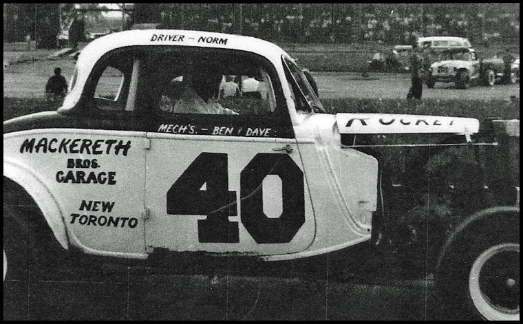 Norm Mackereth in his Coupe at Pinecrest Speedway. Courtesy of Norm Mackereth