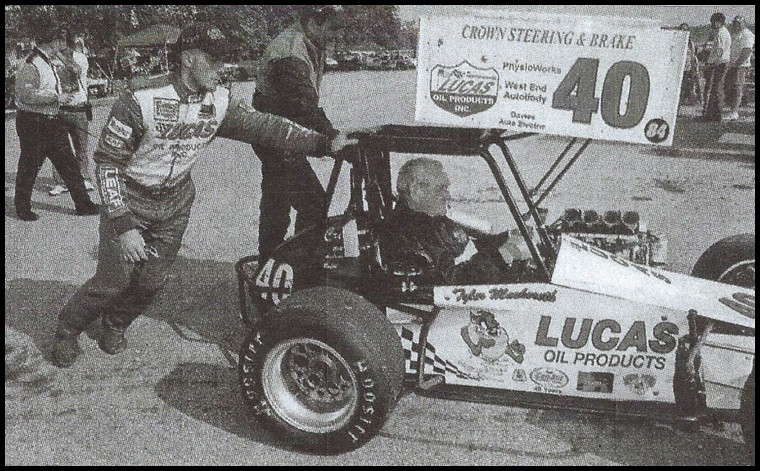 Norm Mackereth in the #40 Can Am Midget at Sauble Speedway in 2004. Courtesy of Norm Mackereth