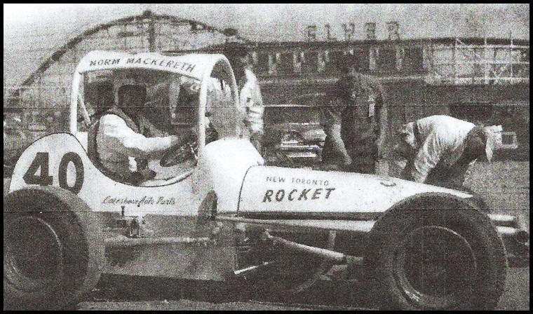 Norm Mackereth in the New Toironto Rocket at the CNE Stadium, Toronto.