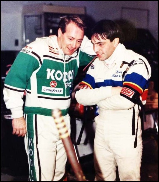 Ken Schrader (left) and Lou Cicconi at the Niagara Falls Convention Centre Indoor Shows. Courtesy of Ken Graham