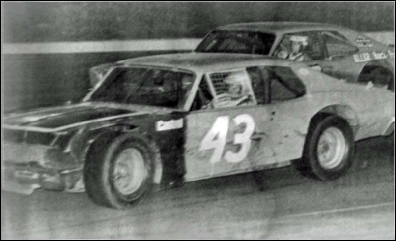 Don Biederman wins the Oxford 250 in 1977. This was the biggest win of Don's career. Courtesy of Bob Sumak