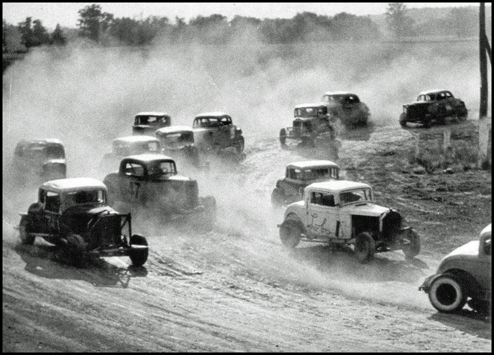 Brodies Delaware Speedway was a quarter mile dirt oval from 1952 to 1960. Courtesy of George Ryland