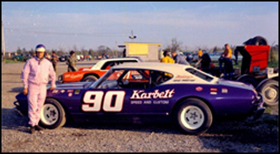Doug Warnes at Flamboro Speedway back in 1971. Photo by Tex