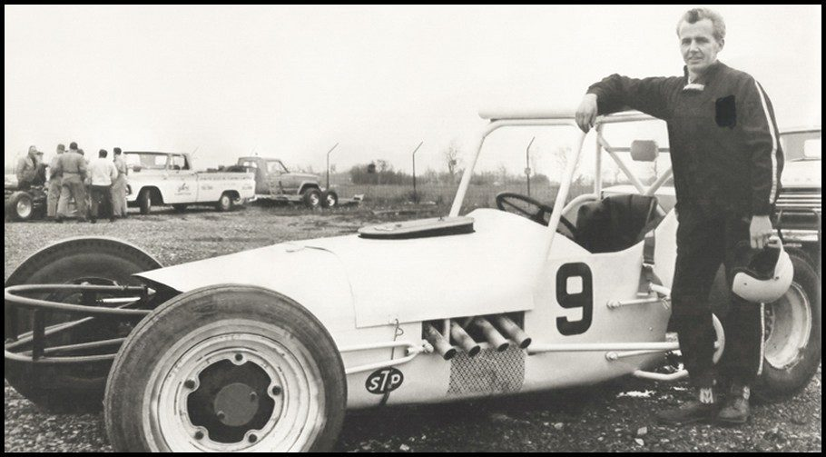 Hazen with his supermodified at Flamboro Speedway back in 1967.