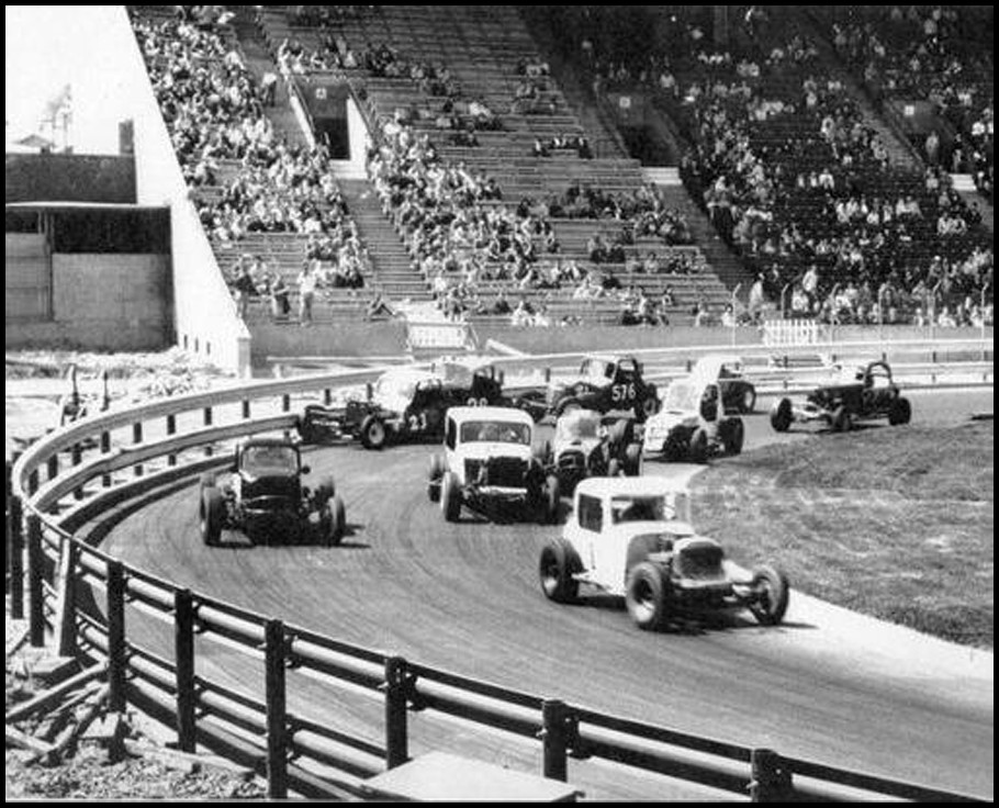 Supermodified action at CNE Stadium. Yesterday's Speedways Collection